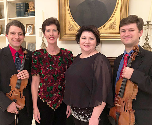 Leslie Mabe and the Rainier Trio, (pictured left to right) Kevin Matheson, Brenda Wittwer, Leslie Mabe, and Bryan Matheson.