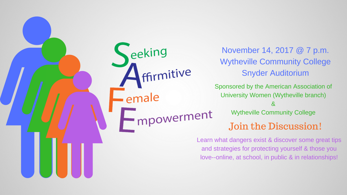Seeking Affirmative Female Empowerment November 14, 7 p.m.