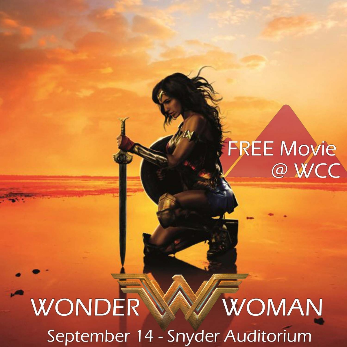 Free Movie at WCC Wonder Woman September 14 Snyder Auditorium