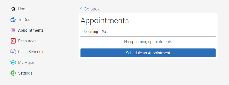 Appointments in EAB Navigate Screenshot