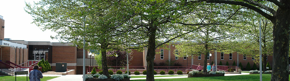 WCC Quad area on Wytheville Campus