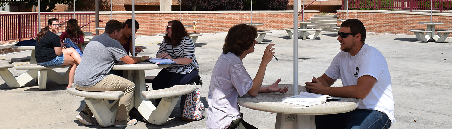 Students on the Quad Patio on WCC Campus