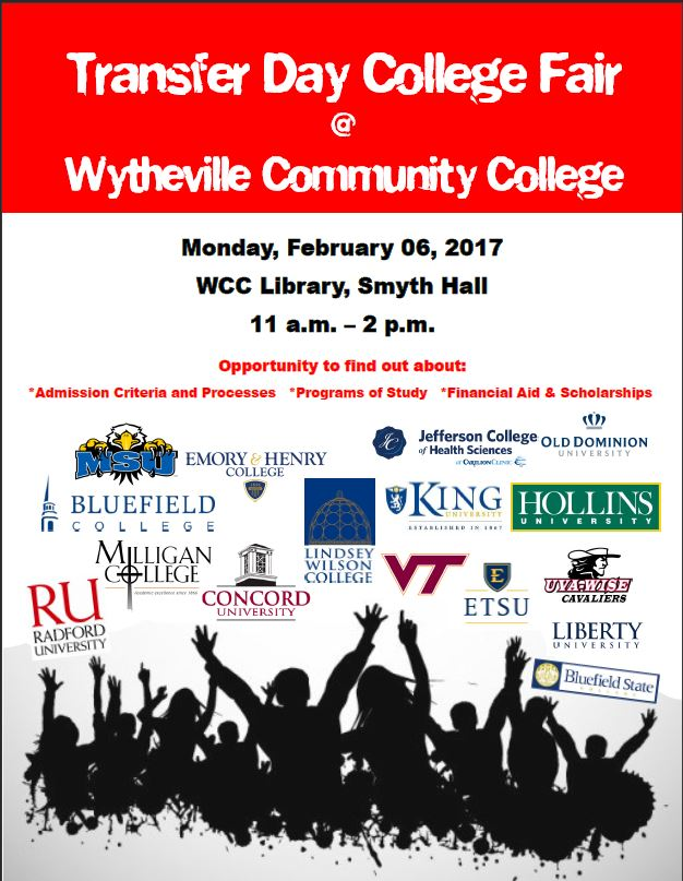 transfer day college fair wytheville community college