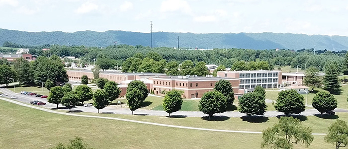 Aerial of WCC's Wytheville Campus