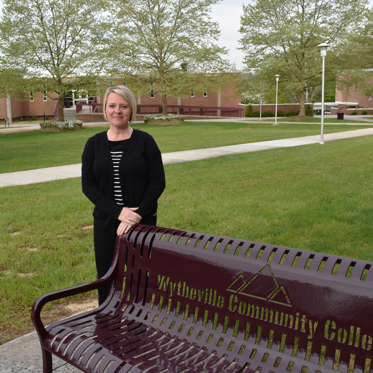 Wendy Nixon stadning outside on WCC's Wytheville Campus