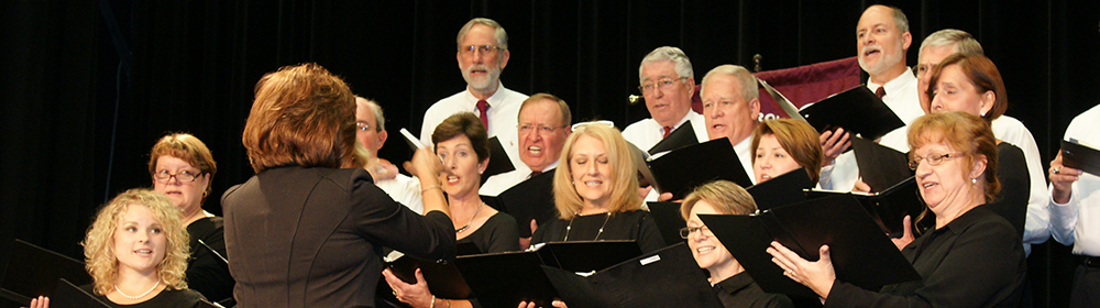 WCC choir performing at a concert