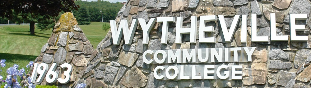 Wytheville Community College Stone Mountain Sign